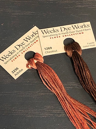 Weeks Dye Works Floss ~ Adobe thru Chestnut