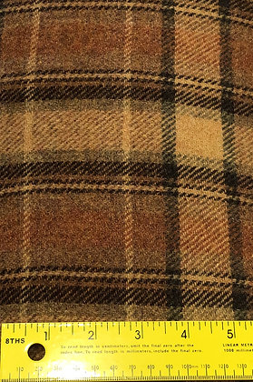 Large Mustard / Brown Plaid