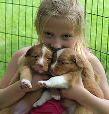 Enya Fairytale 4 weeks 100 girl with pup