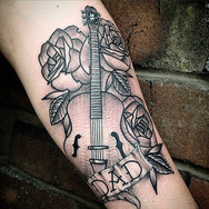 Tribute tattoo for Darren's old boy, who