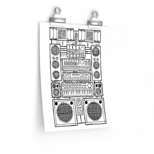 Synthjam v2 Premium Matte vertical poster