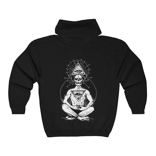 Meditation Full Zip Hooded Sweatshirt