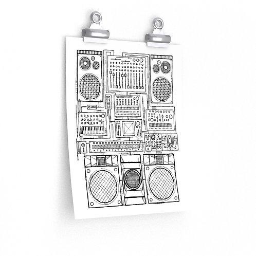 Synthjam v1 Premium Matte vertical poster