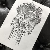 Death cap #abstracttattoo #organicgeomet