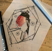 Scarlet Robin  Available to tattoo . . .