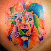 Water colour tattoos, they are the new b