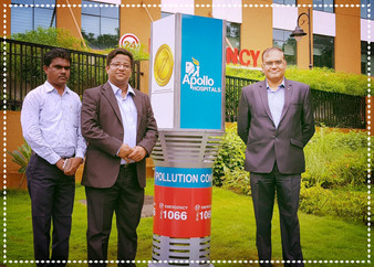 """Apollo Hospital, Belapur"" - Installs Outdoor Air Pollution Controller by StrataEnviro Pvt"