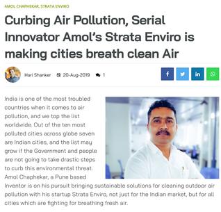 Machine Maker Covers Story of StrataEnviro & Founder Amol Chaphekar