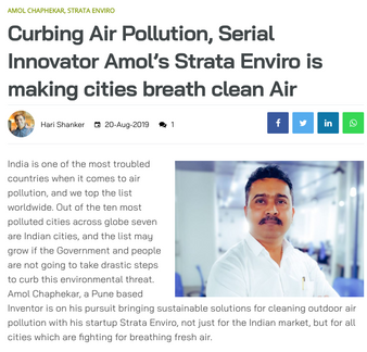 Machine Maker Covers Story of StrataEnviro & Founder Amol Chaphekar