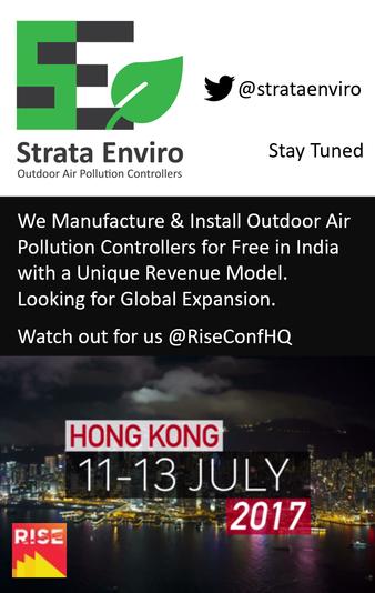 Strata Enviro @ RISE HONGKONG 11th to 13th July 2017
