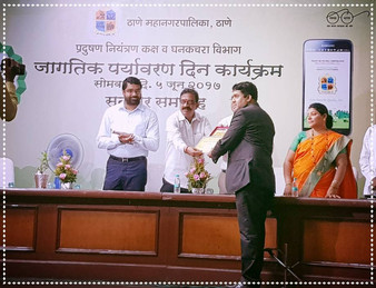 Felicitated & Appreciated at Thane Municipal Corporation @ World Environment Day.