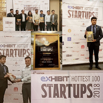 StrataEnviro Awarded as Winner @ Hottest 100 Startups at a Event in Mumbai on 17th April 2018.
