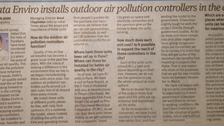 StrataEnviro @ London & Partners Press Meeting in Pune Covered by Sakal Times