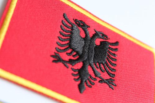 Albania Kosovo Flag Embroidery Patch Com Alb Trend Albanian - Albanian flag