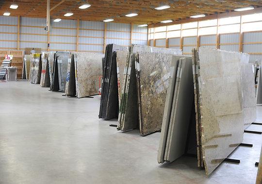 Stone Slabs in Warehouse