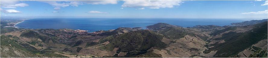 Vue du terroir de Banyuls et Collioure