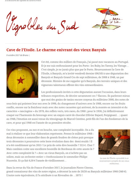 Article Vignobles du sud page 1