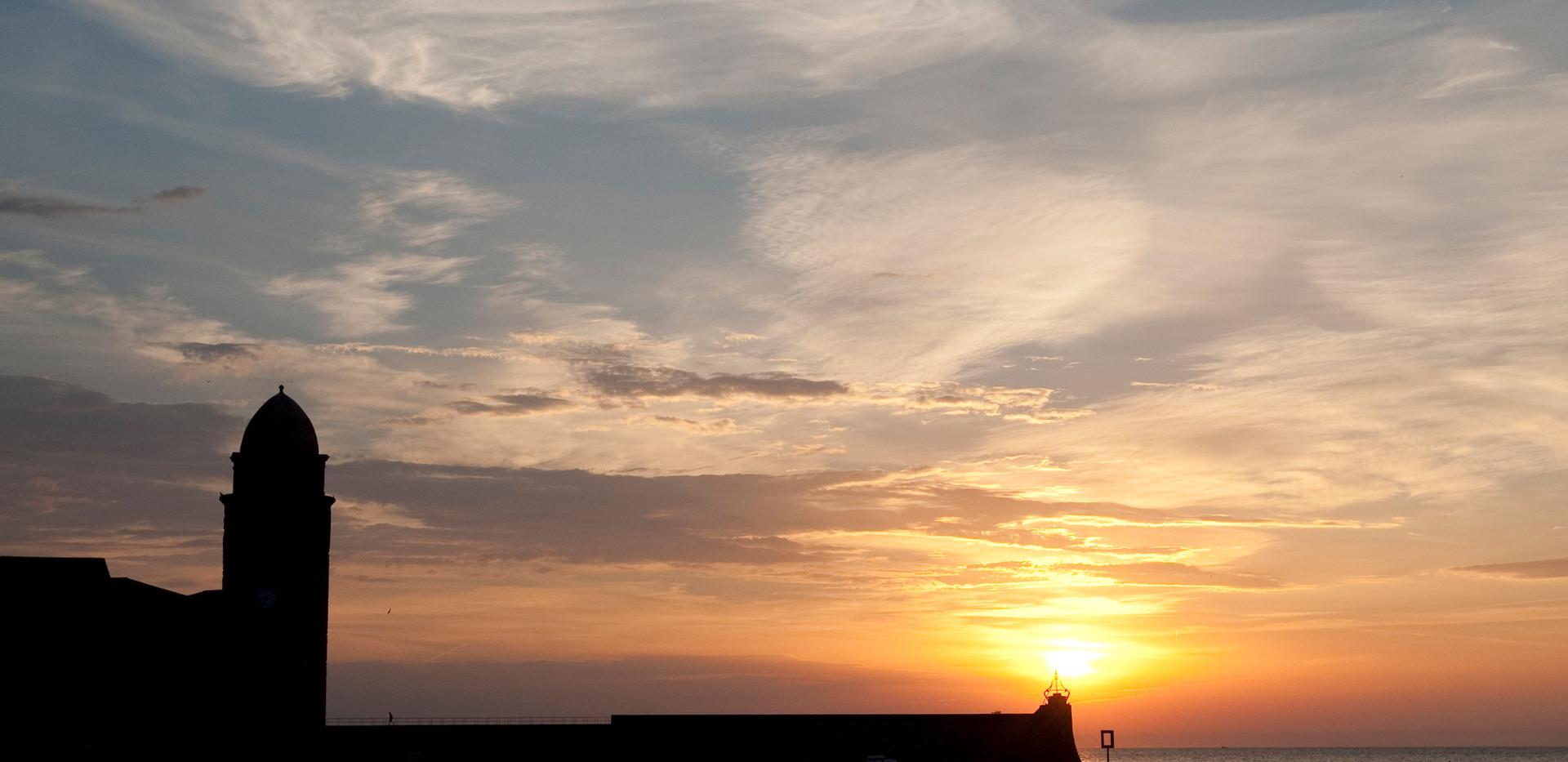 soleil à Collioure