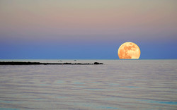 Moonrise Over Long Island Sound