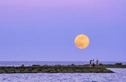 Moonrise - Long Island Sound