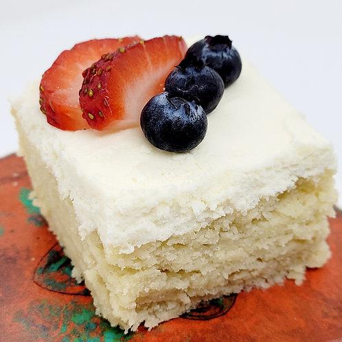Keto Almond Creme Cake, Sugar Free, Low Carb, Gluten Free, Diabetic