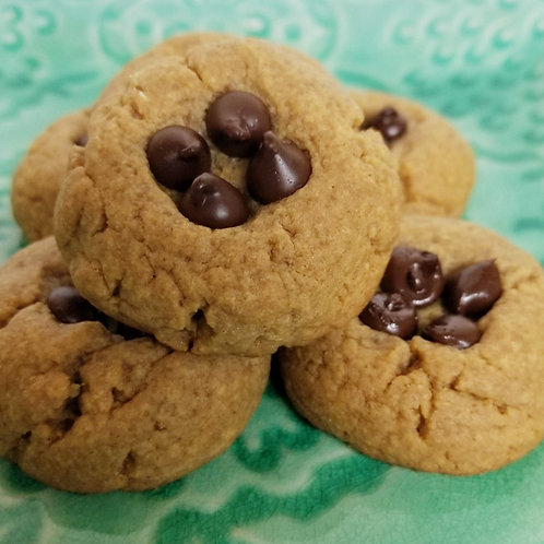 PEANUT BUTTER CHOCOLATE Chip Cookies, Keto, Sugar Free, Low Carb, Gluten Free
