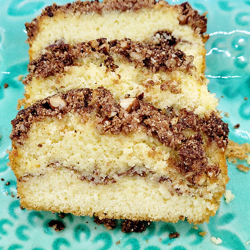 Keto Cinnamon Coffee Cake, Sugar Free, Low Carb, Gluten Free, Diabetic