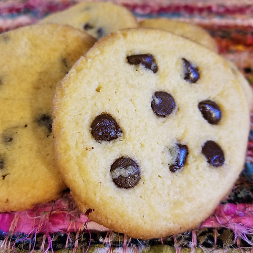CHEWY Chocolate Chip Cookies Keto, Sugar Free, Low Carb, Gluten Free