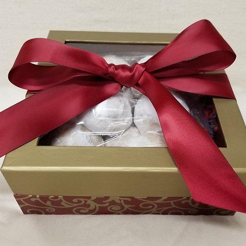 Keto Pecan Snowball Cookie Gift Box, Sugar Free, Low Carb, Gluten Free