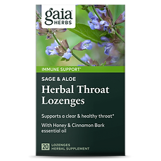 Gaia Herb Sage Aloe Herbal Throat Lozeng