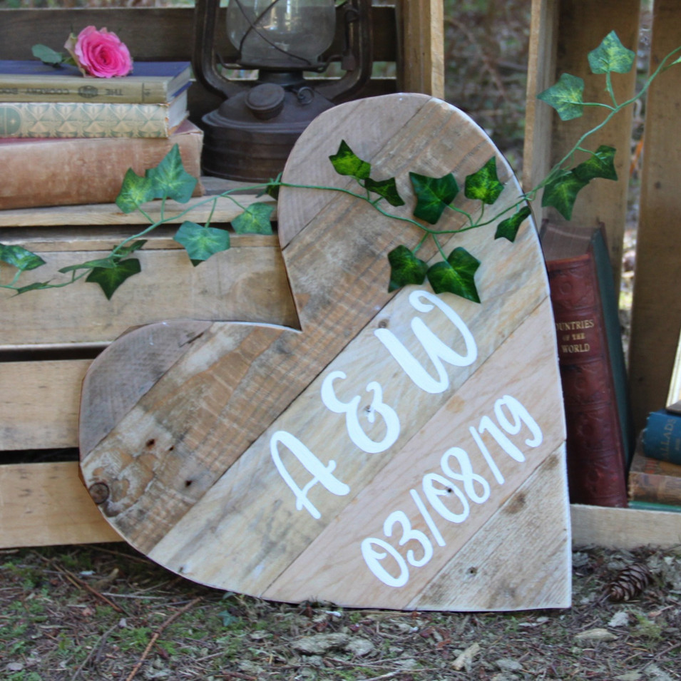 Personalised Love Heart Sign