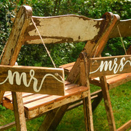'Mr & Mrs' Hanging Signs