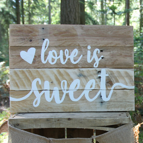 'Love is Sweet' Signs