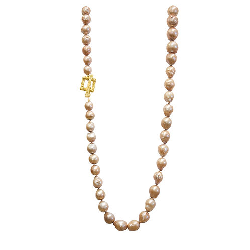 Beige Chinese Pearl Necklace