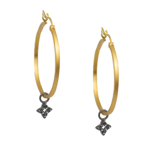 Gold Vermeil Hoops With Charms