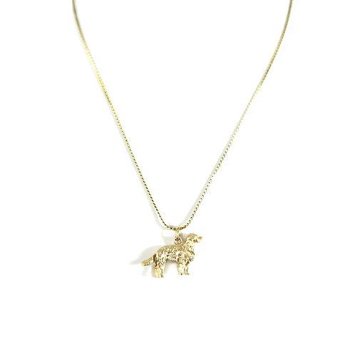 Golden Retriever Charm Necklace