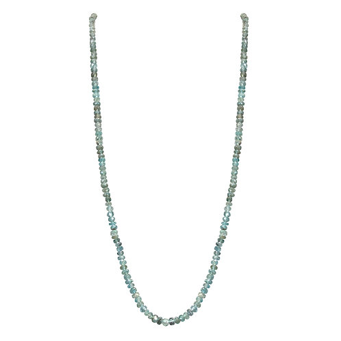 Blue Zircon Bead Necklace
