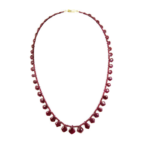 Cabochon Ruby Necklace