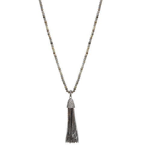 Labradorite Tassel Necklace