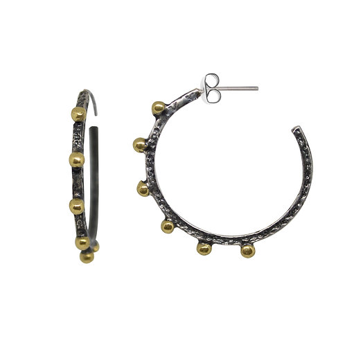 Small Ball Accent Hoops