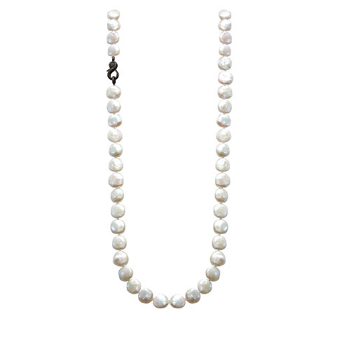 Coin Shaped Pearl Necklace
