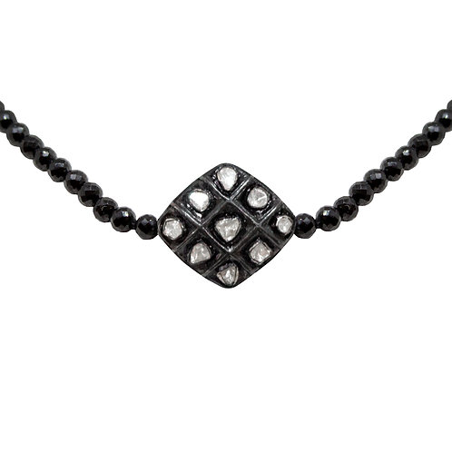 Rose Cut Diamond Bead Necklace