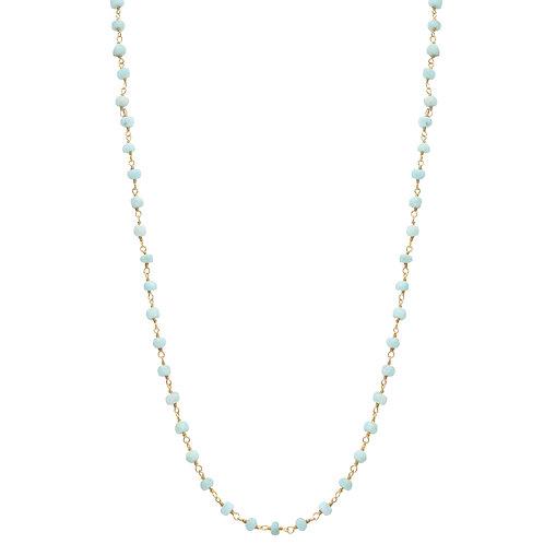 Larimar Wire Wrap Necklace