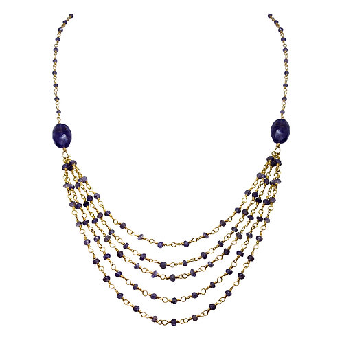 Iolite Multi-Strand Necklace