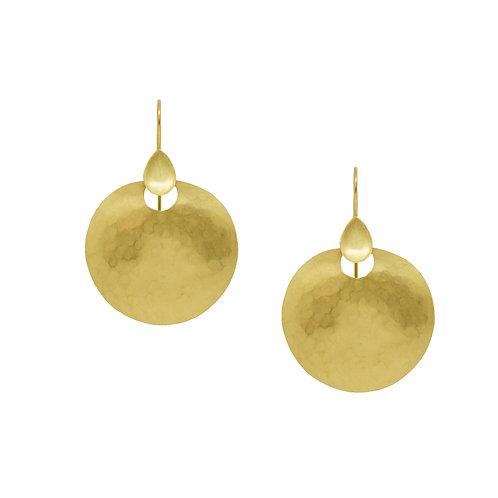 18K Matte Gold Earrings
