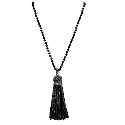 Choker Black Spinel Tassel Necklace
