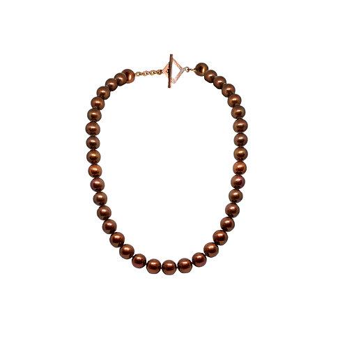 Copper Color Pearl Necklace