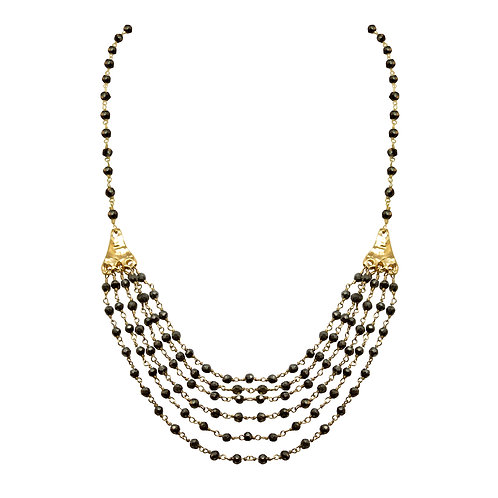 Pyrite Multi-Strand Necklace