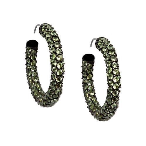 Pave Green Amethyst Earrings