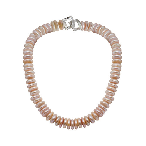 Peach Color Pearl Necklace